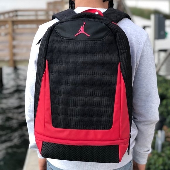 0e13ff840493f0 Nike Air Jordan Bred Retro 13 XIII Backpack